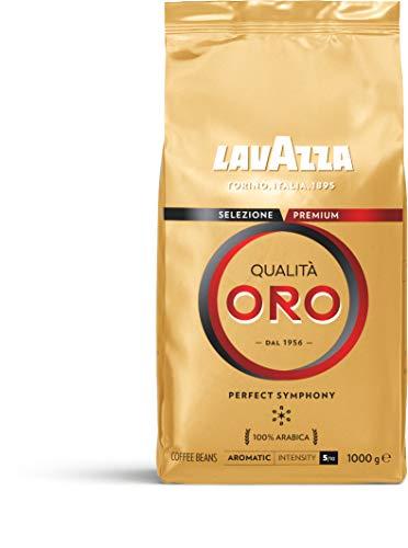 Lavazza Café en Grano Espresso Qualità Oro, 100% Arábica, Paquete...