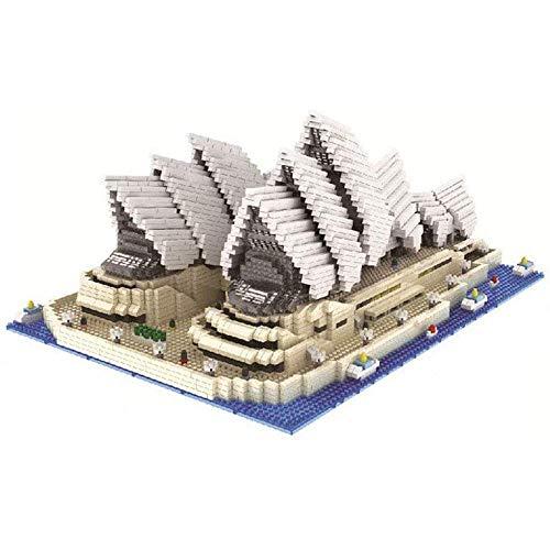 Exquisito Bloque de construcción Sydney Opera House Nano Micro Bloques Juguetes de construcción,4131 + Pcs Nano Mini Blocks Juguetes de Bricolaje,Rompecabezas 3D Juguete Educativo de Bricolaje