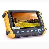 5.0MP 4 en 1 CCTV Tester, AHD/TVI/CVI Coaxial HD Video Monitor Tester, Analog Video/UTP Cable Test VGA/HDMI Entrada DC12V Salida Probador de la cámara