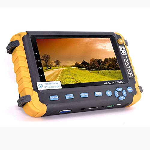 5.0MP 4 en 1 CCTV Tester, AHD/TVI/CVI Coaxial HD Video Monitor Tester, Analog Video/UTP Cable Test VGA/HDMI Entrada DC12V Salida Probador de la cámara