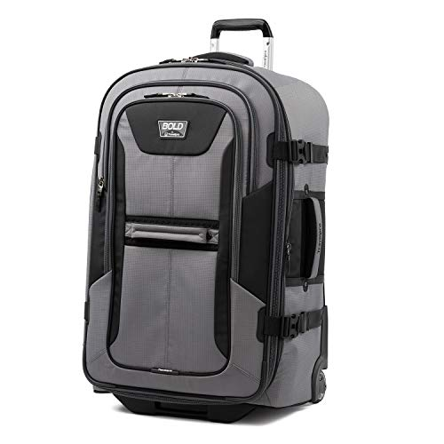 Amazon.com | Travelpro Bold-Softside Expandable Rollaboard Upright Luggage, Grey/Black, Checked-Large 28-Inch | Carry-Ons