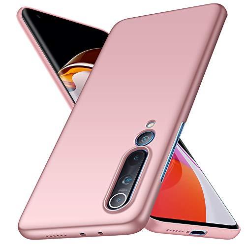 ORNARTO Funda Xiaomi Mi 10, Carcasa [Ultra-Delgado] [Ligera] Mate Anti-arañazos y Antideslizante Protectora Sedoso Caso para Xiaomi Mi 10(2020) 6,67 Pulgadas Oro Rosa