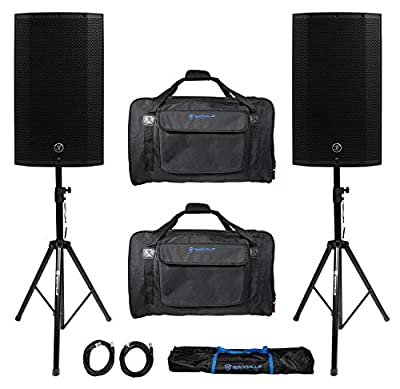 """(2) Mackie Thump12A THUMP-12A 12"""" 2600w Powered DJ PA Speakers+Carry Bags+Stands by Mackie"""