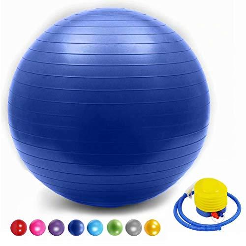 SONGHUI Mini Pilates Ball, Gymnastikball für Bauch-Beine-Po Übungen-tiefes Blau,70cm