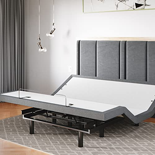 Sven & Son King Adjustable Bed Base Frame 5 Minute Assembly, Head & Foot Articulation, USB Ports, Zero Gravity, Interactive Dual Massage, Wireless, Classic (King)