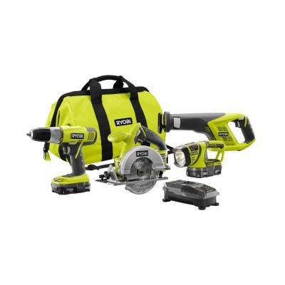 4 Tool Super Combo Kit, 18V Lithium-Ion, With IntelliPort Technology