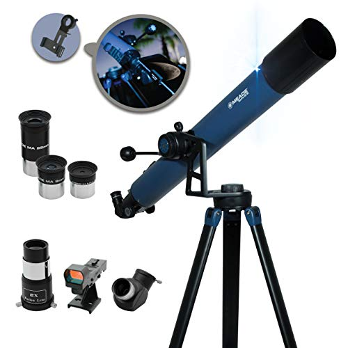 Meade Instruments – StarPro AZ 80mm Aperture, Portable Beginner Refracting Astronomy Telescope with Bonus Adjustable Smartphone Adapter - Compact Alt-azimuth (AZ) Manual Mount