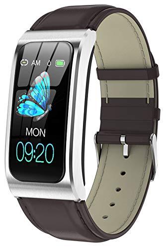 Fitness Armband Uhr mit Blutdruckmessung IP68 Wasserdicht Pulsuhr Sport Damen Herren IOS Android Smartwatch Schlaf Tracker