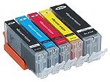 Torten Deko Shop - 5 cartucce di inchiostro (PGI-570, CLI-571Bk/C/M/Y)
