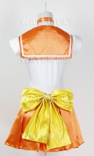 『セーラームーン 風 コスチューム 衣装 10点セットc328el (ヴィーナス 愛野美奈子 風 , Lサイズ)』の5枚目の画像