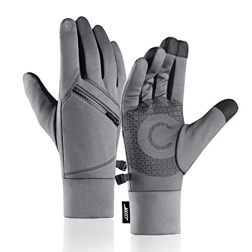 MAJCF Winter Gloves, Cold Weather Gloves Touchscreen Warm Gloves Men & Women (Gray, L)
