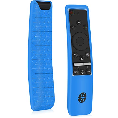 Protective Case for Samsung Smart TV Remote Controller BN59 Series,[Thicken Layer]Silicone Remote Case Holder Protetcor for Smart 4K Ultra HDTV Remote, Shockproof Samsung Curved Remote Back Cover-Blue
