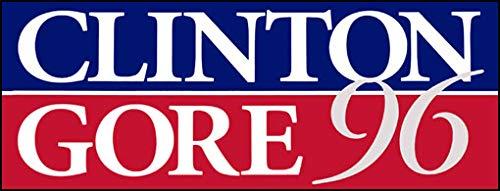 American Vinyl Clinton Gore 96 Vintage Bumper Sticker (Former Elect President)