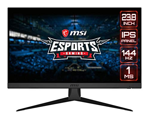 MSI Optix G242 23.8 inch IPS Gaming Monitor – Full HD - 144Hz Refresh Rate - 1ms Response time – Adaptive Sync for Esports