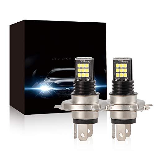 Bombillas de Luz Antiniebla LED H7,48W 4800LM por par 24 SMD LED Kit de Lámpara de Conducción de Coche Blanca,2 Piezas por Paquete