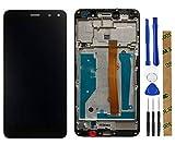 Stejnhge Pantalla LCD para Huawei Y6 2017 / Y5 2017 MYA-L11 MYA-L41/ Nova Young 4G LTE Reemplazo del Conjunto del Digitalizador de Pantalla Táctil Negro + Marco