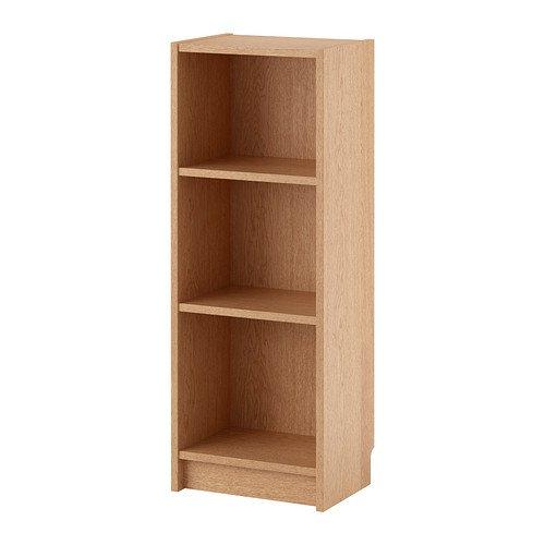 Ikea Billy - Bücherschrank, Eiche furniert - 40x28x106 cm