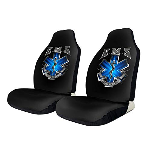 KEEDCE&FJE EMS - On Call for Life- Emergency Medical Services Universal Car Seat Cover Car Seat Covers Protector for Automobile Truck SUV Vehicle
