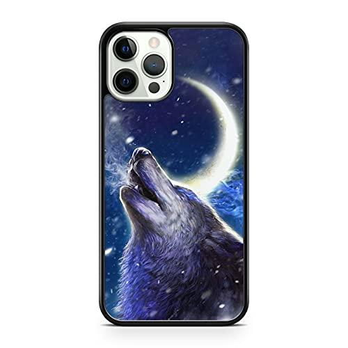 Compatibile con Majestic Howling Space compatibile con Wolf Animal Crescent Moon Galaxy Space (modello di telefono: compatibile con Huawei Y7 (2019))