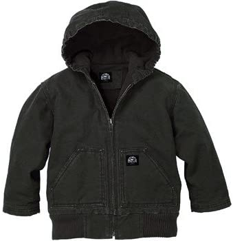Polar King Youth Hooded Insulated Duck Fleece Lined Jacket - Black