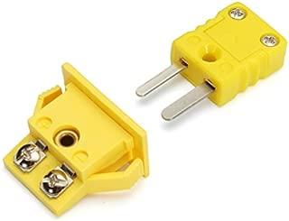 HITSAN Panel Mount K-type Thermocouple Miniature Socket Plug Connector One Piece