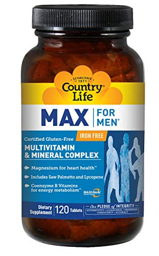 Country Life Max For Men Maxi-Sorb Multi-Vitamin & Mineral, 120-Tablet by Country Life