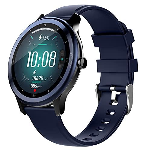 WEINANA Reloj Inteligente Full Touch HD Pantalla Grande Pulsera Inteligente Reloj De Monitoreo del Sueño del Ritmo Cardíaco Reloj Inteligente del Clima Deportivo(Color:B)