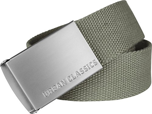 Urban Classics Unisex Canvas Belt Gürtel, Olive, one size