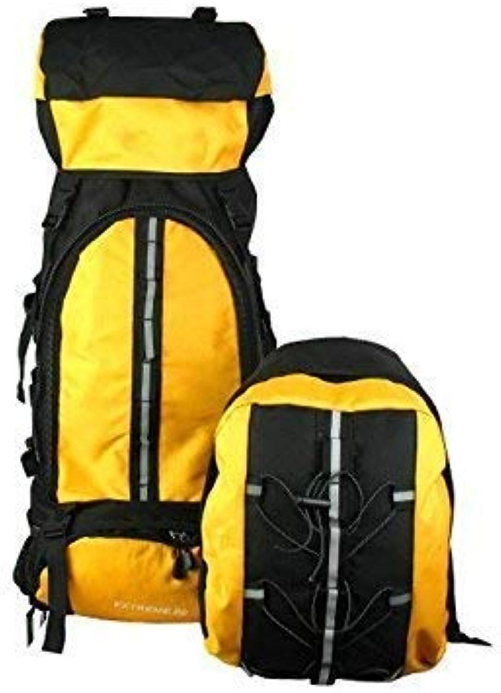 WEILIVE, modischer Outdoor- und Innenbereich, groe Kapazitt, Wandern, Klettern, 80 l, Outdoor Bergsteiger Rucksack (gelb)