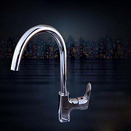Kupfer Küche Einlochmontage heiß und Kalt Wasserhahn Hohe Werfen Waschbecken Wasserhahn Spüle Spüle Netto-Blei-Rotation Wasserhahn