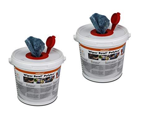 2x (72 Stück) WIPER BOWL Feuchttücher Reinigungstücher Putztücher Spendereimer
