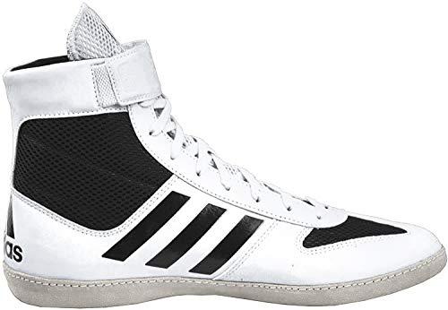 adidas Men's Combat Speed Wrestling Shoe, White/Black/White, 15