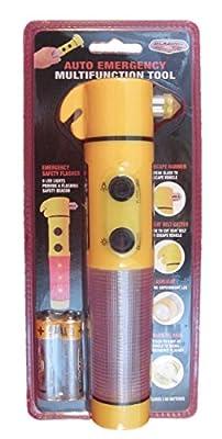Blazing LED Auto Emergency Multifunction Tool, LED Flashlight Includes Batteries from Shawshank LEDz