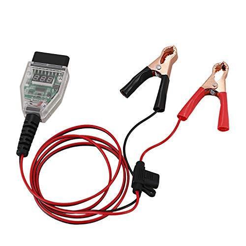 XZANTE 5A Car Computer Memory Saver OBD2 Reemplazo de BateríA Herramienta de ExpansióN Abrazadera de Cable Pantalla Digital Reemplazo de BateríA Herramienta de DeteccióN de Fugas