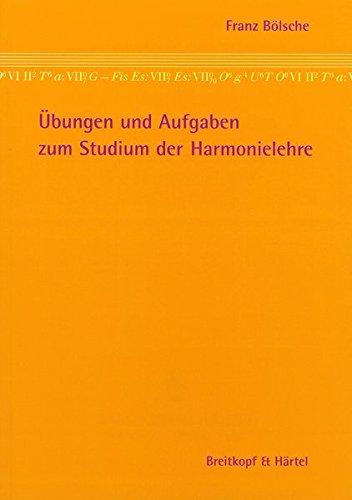 Übungen und Aufgaben zum Studium der Harmonielehre (BV 12)