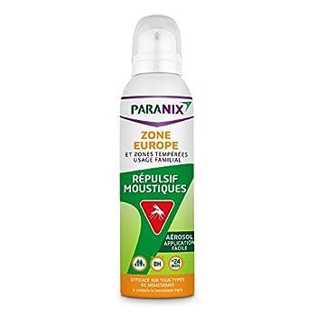 Paranix Répulsif Moustiques Zone Europe/Zones Tempérées, Protection 8 H, Aérosol, 125?ml