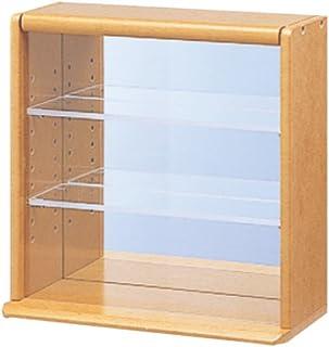 コレクションケース ミニ 透明アクリル棚板タイプ ライトブラウン
