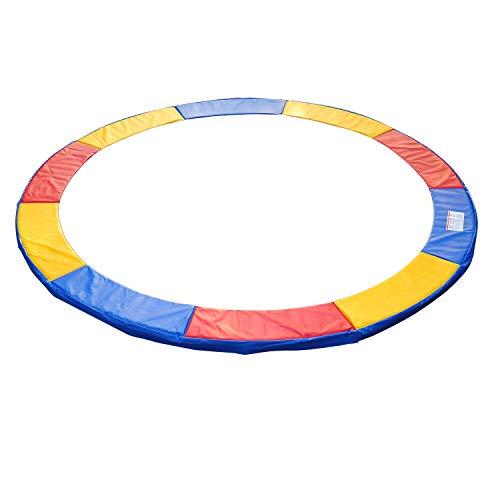 HOMCOM Cubierta de Protección Cojín Borde para Cama Elástica y Trampolines con Diámetro Ø244 cm Multicolor