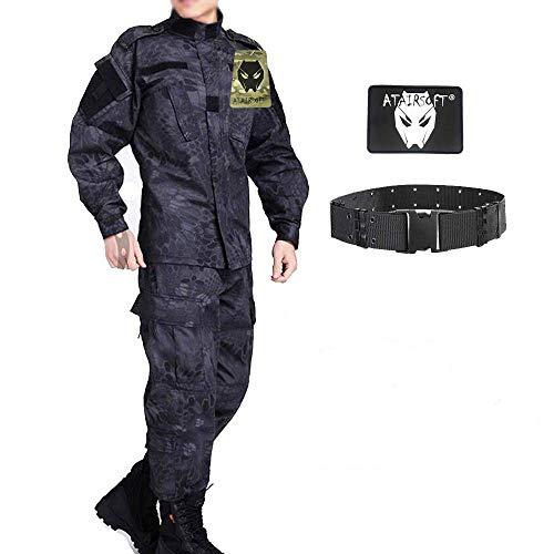 ATAIRSOFT Tactical Men BDU Kampfuniform Jacke Hemd & Hosenanzug für Army Military Airsoft Paintball Jagdkriegsspiel TYP S