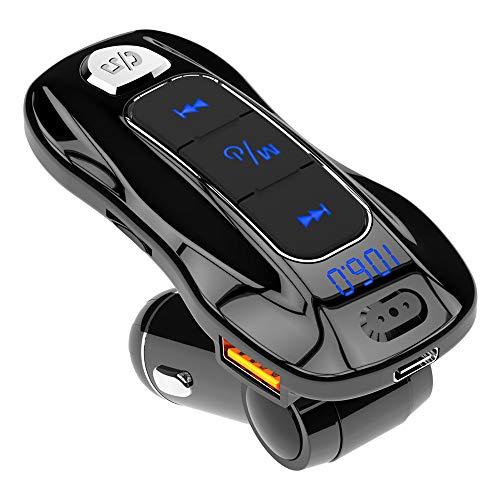 YONGYAO 3Bc55 Bluetooth5.0 Inalámbrico Coche Cargador Vehículo Multifuncional Coched Mp3 Reproductor Manos Libres