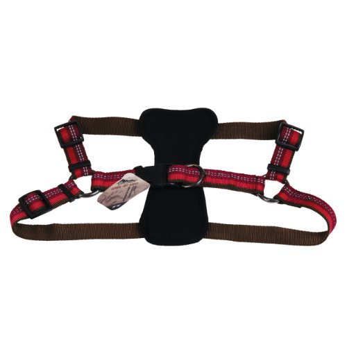 Coastal - K-9 Explorer - Reflective Adjustable Padded Dog Harness, Berry, 1' x 20'-30'
