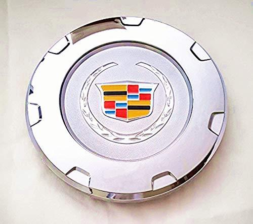 "RUI 1 Pcs 200mm Cadillac Logo Car Wheel Hub Center Cover Apply to for 2007-2014 Cadillac Escalade 22"" Hub(Colour)"