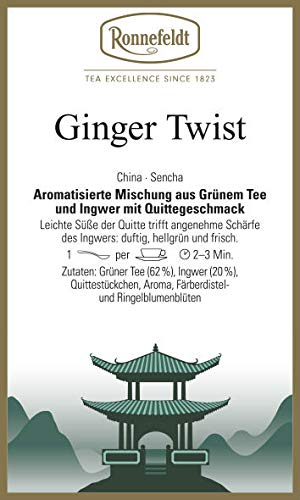 Ronnefeldt - Ginger Twist - Wellness - Grüner Tee - 100g - loser Tee