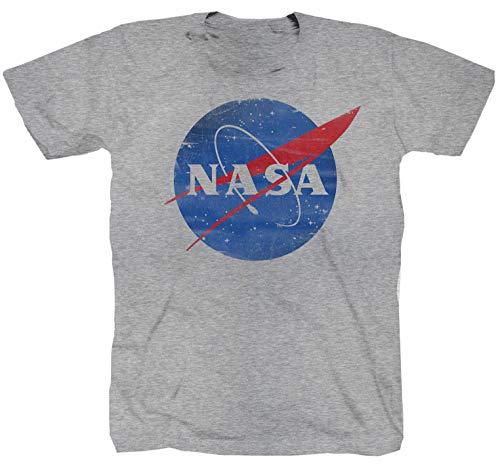 Camiseta NASA Aeronautik Enterprise Star Trek Space Shuttle Sheldon USS, color gris gris S