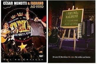 DVD KIT: Cesar Menotti e Fabiano -Voz do Coração & Bruno e Marrone - De Volta aos Bares