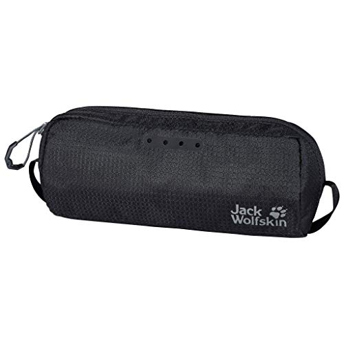 Jack Wolfskin WASHBAG AIR geräumiger Kulturbeutel, Black, ONE Size