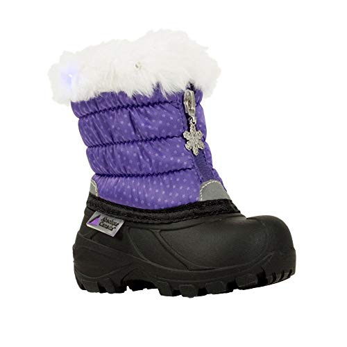 Absolute Canada Infant's Furball Boots Purple 7