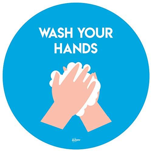 Avery Wash Hands Circular Label ...