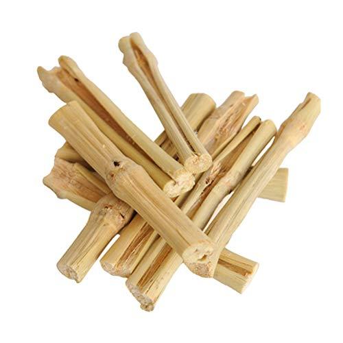 POPETPOP Hámster Molar Varilla Dulce de Bambú Palo de Mascotas Snacks Masticar Juguetes para Conejo Hámsters Chinchillas 500g