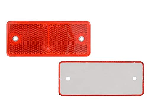 FKAnhängerteile 8 x Spot – Réflecteur arrière – Vis – 90 x 40 mm – Rouge – Marque de contrôle